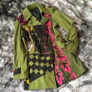 Paramita Graphic Trench Coat